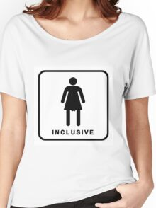 inclusive restroom sign Women's Relaxed Fit T-Shirt