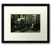 I Saw Something in the Woods Framed Print