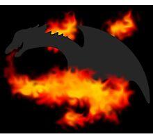 Dragon Silhouette (regular version) Photographic Print