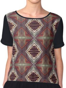 Staircase of Diamonds Chiffon Top