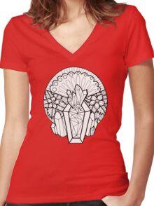 Crystal Coffin: Memento Mori Women's Fitted V-Neck T-Shirt