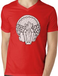 Crystal Coffin: Memento Mori Mens V-Neck T-Shirt