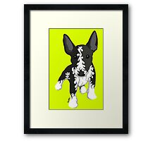 Spiral English Bull Terrier Puppy Framed Print