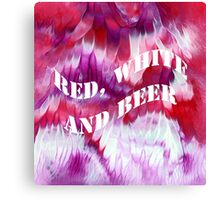Red, white and beer Canvas Print