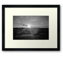 Sunset on Arabia Mountain Framed Print