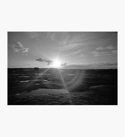Sunset on Arabia Mountain Photographic Print