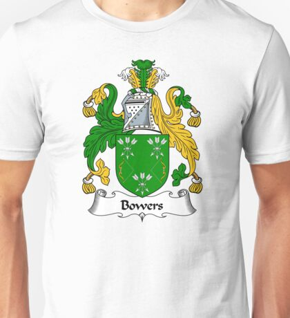 Bowers Coat of Arms / Bowers Family Crest Unisex T-Shirt