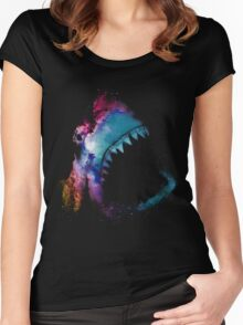 Space Shark Women's Fitted Scoop T-Shirt