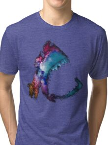 Space Shark Tri-blend T-Shirt