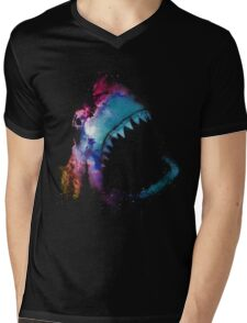 Space Shark Mens V-Neck T-Shirt