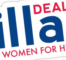 Hillary Blue and Red  Sticker