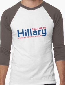 Hillary Blue and Red  Men's Baseball ¾ T-Shirt