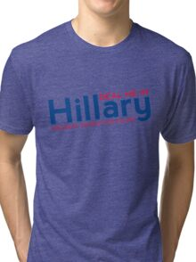 Hillary Blue and Red  Tri-blend T-Shirt