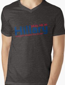 Hillary Blue and Red  Mens V-Neck T-Shirt