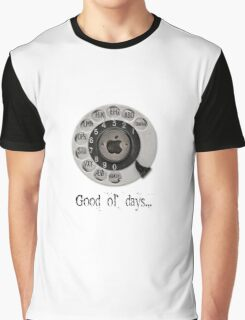 Traditional rotary telephone dial. Apple. Graphic T-Shirt