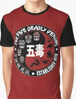 CLASSIC KUNG FU MOVIE THE 5 DEADLY VENOMS SHAOLIN SQUAD T-SHIRT Graphic T-Shirt