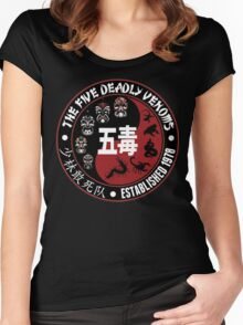 CLASSIC KUNG FU MOVIE THE 5 DEADLY VENOMS SHAOLIN SQUAD T-SHIRT Women's Fitted Scoop T-Shirt