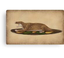 Charassognathus gracilis - the oldest known cynodont Canvas Print