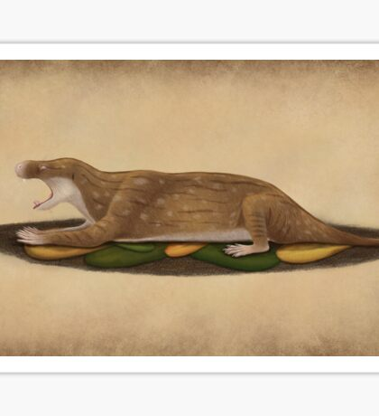Charassognathus gracilis - the oldest known cynodont Sticker
