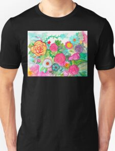 Neon Garden: Bright and Blooming Unisex T-Shirt