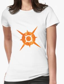 Pokemon Sun Fiery Symbol Womens Fitted T-Shirt