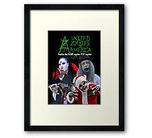 UZA Zombies Framed Print