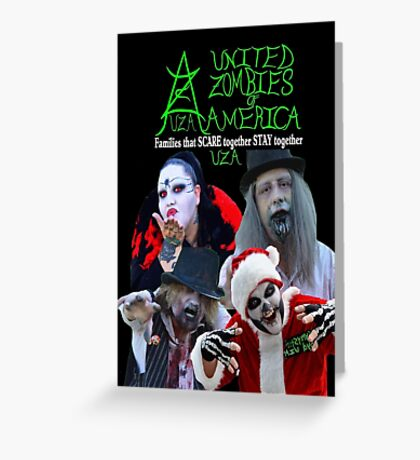 UZA Zombies Greeting Card