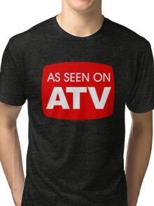 As Seen on ATV - Funny Quad Logo Tri-blend T-Shirt