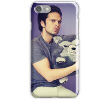 Sebastian stan and wolf plushie  iPhone Case/Skin