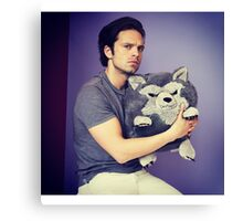 Sebastian stan and wolf plushie  Canvas Print