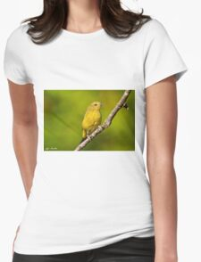 Female Yellow Warbler Womens Fitted T-Shirt