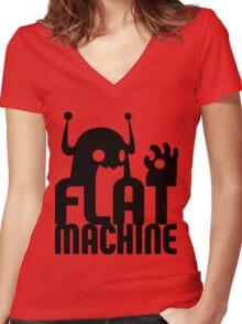 Flat Machine Women's Fitted V-Neck T-Shirt