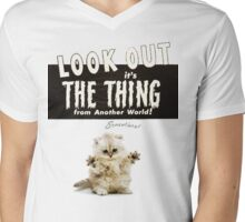 Hello Kitty Look Out THE THING! Mens V-Neck T-Shirt