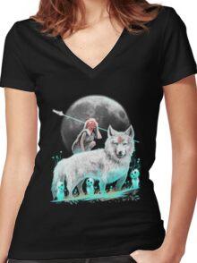 Nightly Spirits Women's Fitted V-Neck T-Shirt