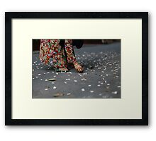 flower collector  Framed Print