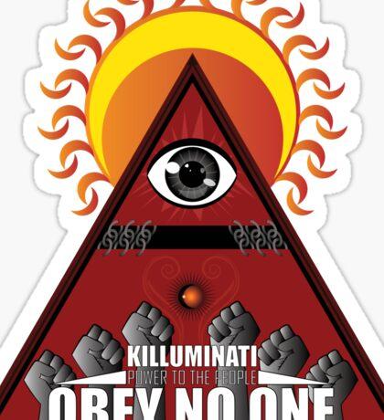 Killuminati Obey No One Sticker