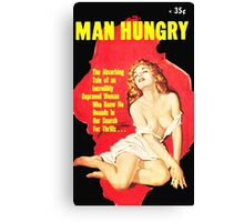 Man Hungry Retro Mag Canvas Print