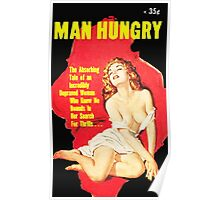 Man Hungry Retro Mag Poster
