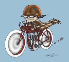 MOTORCYCLE EXCELSIOR STYLE (RED BIKE) Kids Tee