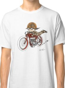 MOTORCYCLE EXCELSIOR STYLE (RED BIKE) Classic T-Shirt