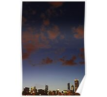 Clouds Over Chicago Poster