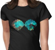 Green Galaxy Mermaid Womens Fitted T-Shirt