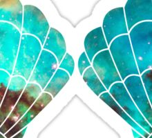 Green Galaxy Mermaid Sticker