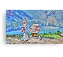 "'Hey Diddle Diddle""....The Dish Ran Away With The Spoon Canvas Print"