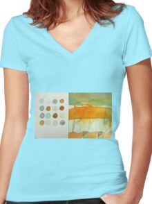 paperbag abstract Women's Fitted V-Neck T-Shirt