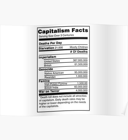 Capitalism Facts Poster