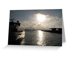 Boat Docked - San Diego Greeting Card