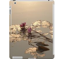 Water Lillies on Siem Reap river iPad Case/Skin