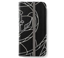 Stained Glass Rose Black iPhone Wallet/Case/Skin