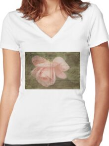 Faded Love ~ I Still Think of You...  Women's Fitted V-Neck T-Shirt